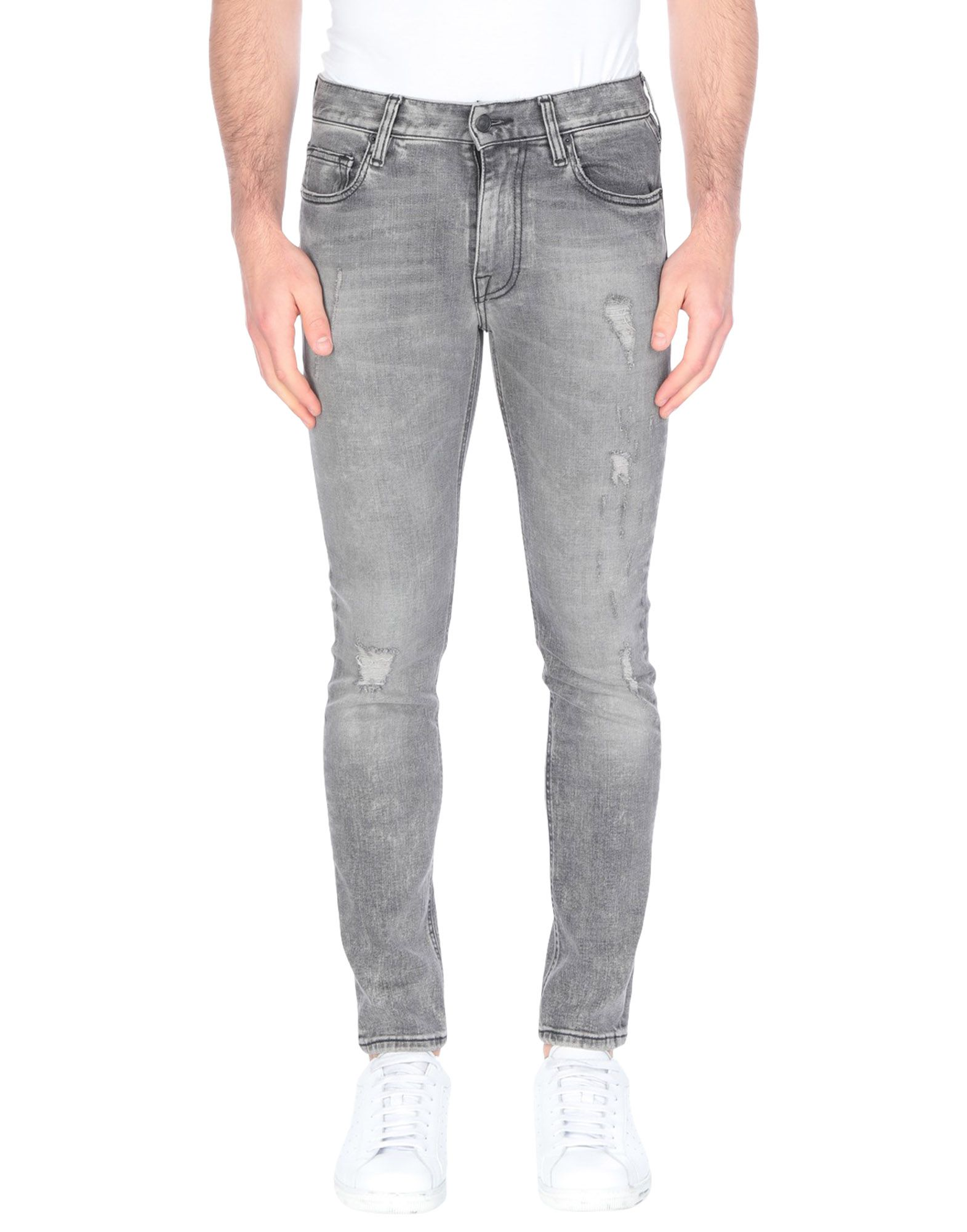 MAURO GRIFONI Denim pants - Item 42742717