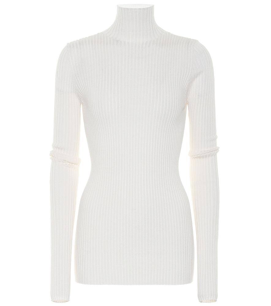 Wool and silk turtleneck sweater