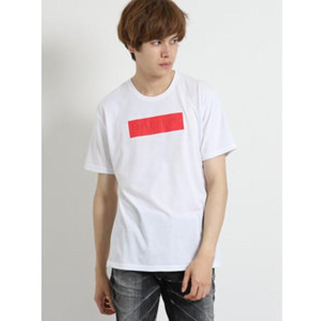 【semantic design:トップス】ライトフォース/LIGHTFORCE 発砲BOXロゴ クルーネック半袖Tシャツ