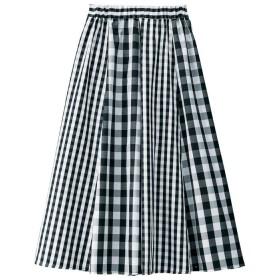GeeRA チェックプリント切替スカート LL レディース 5,000円(税抜)以上購入で送料無料 フレアスカート 夏 レディースファッション アパレル 通販 大きいサイズ コーデ 安い おしゃれ お洒落 20代 30代 40代 50代 女性 スカート