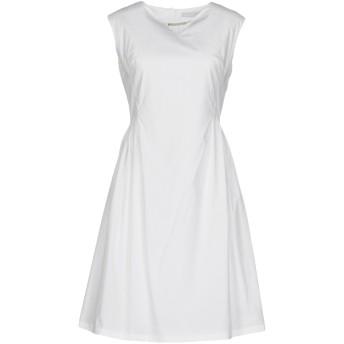 《セール開催中》FABIANA FILIPPI レディース ミニワンピース&ドレス ホワイト 46 コットン 98% / ポリウレタン 2%