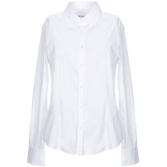 《セール開催中》CAMICETTASNOB レディース シャツ ホワイト 46 コットン 75% / ナイロン 23% / ポリウレタン 2%