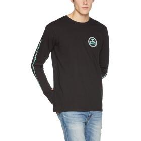 [ビラボン] [メンズ] 長袖 プリント Tシャツ (スリーブプリント)[ AI012-063 / MEXICALI LS TEE ] ロンT おしゃれ BLK_ブラック US S (日本サイズS相当)