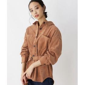 【SALE(三越)】<SHOO LA RUE/シューラルー> ベルト付起毛ロングシャツ(2001581089) チャ【三越・伊勢丹/公式】