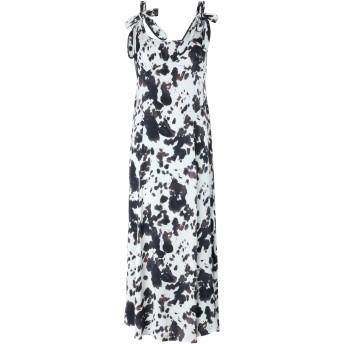 《セール開催中》ALEXACHUNG レディース 7分丈ワンピース・ドレス アイボリー 6 レーヨン 100% SLIP DRESS HIDE PRINT