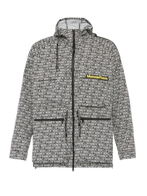 7 Moncler Fragment Hiroshi Fujiwara - Logo-print Zip-through Jacket - Mens - Black Multi