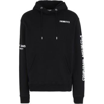 《セール開催中》FIORUCCI メンズ スウェットシャツ ブラック S コットン 100% POWER BRAND HOODIE BLACK