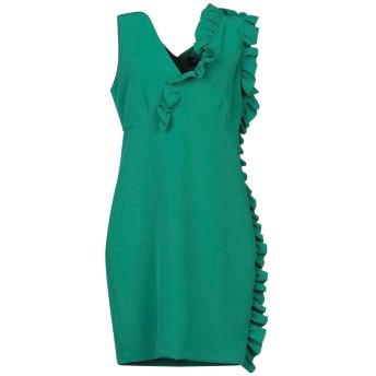 《セール開催中》KI6 WHO ARE YOU レディース ミニワンピース&ドレス グリーン 42 ポリエステル 90% / ポリウレタン 10%