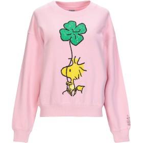 《セール開催中》ESSENTIEL ANTWERP レディース スウェットシャツ ピンク 2 コットン 100% / ポリ塩化ビニル / ガラス