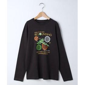 <THE SHOP TK(Kids)/ザショップティーケー> スペースロングTシャツ(2001570631) グレー【三越・伊勢丹/公式】