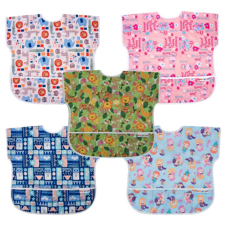 Baby City 防水短袖圍兜(適合1-3歲)多款