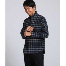 タケオキクチ ビエラウィンドペン スタンドカラーシャツ メンズ ダークネイビー(294) 03(L) 【TAKEO KIKUCHI】