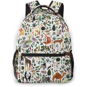 バックパック 動物 Pcリュック ビジネスリュック バッグ 防水バックパック 多機能 通学 出張 旅行用デイパック