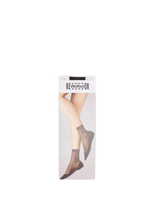 Wolford - Individual 10 Ankle Socks - Womens - Black