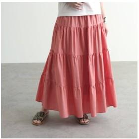 【オゾック/OZOC】 [洗える]ティアードフラワーコットンスカート