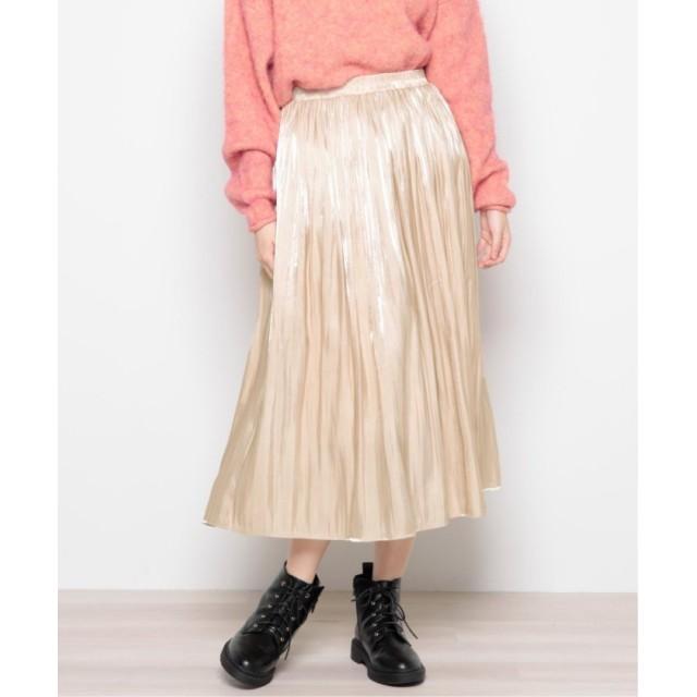 【20%OFF】 レイカズン オーロラサテンギャザースカート レディース ベージュ FREE 【Ray Cassin】 【セール開催中】