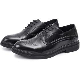 [つるかめ] ビジネスシューズ カジュアルシューズ 革靴 メンズ オックスフォードシューズ ウェディングシューズ 紳士靴 外羽根 ドレスシューズ ストレートチップ 四季 ブラック 28.0CM mp85201