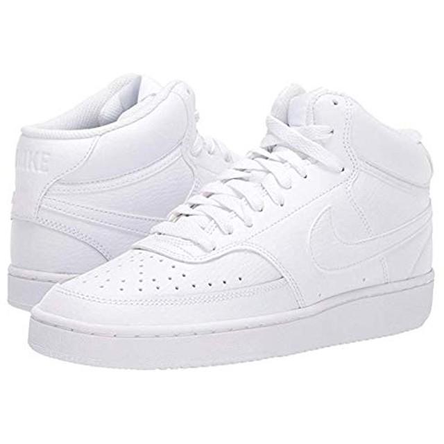 [ナイキ] レディーススニーカー・靴・シューズ Court Vision Mid White/White/White 27.5cm B - Medium [並行輸入品]