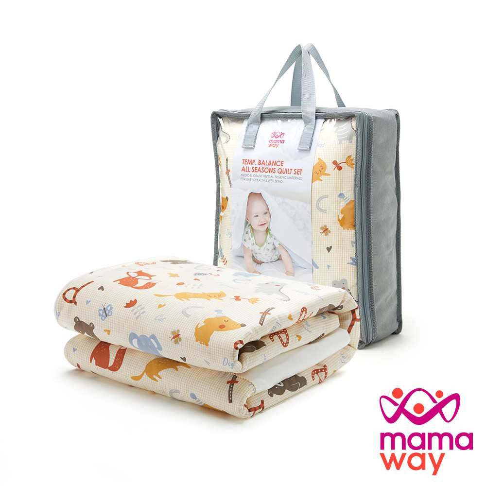 【mamaway 媽媽餵】動物園寶寶安撫被組-調溫/抗菌(共2色)