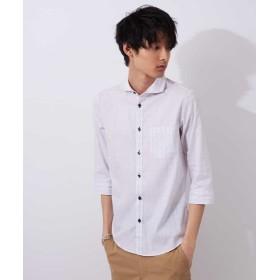 【50%OFF】 エムケーオム コットンチェックシャツ メンズ ホワイト L 【MK homme】 【セール開催中】