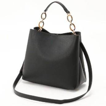 Design Factory デザインファクトリー トレンドデザインべっこうチェーン2WAYバッグ