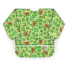 【淘氣寶寶】美國Bumkins防水兒童3-5歲 圍兜(長袖)-小紅車 BKAS-GE01【保證公司貨】