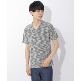 【50%OFF】 エムケーオム サマーツイーディースラブTシャツ メンズ ブラック M 【MK homme】 【セール開催中】
