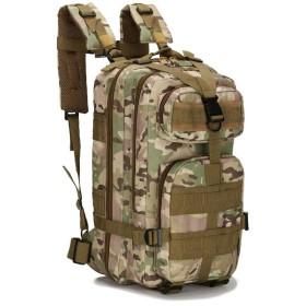 迷彩屋外登山バッグトレーニング機器キャンプバックパック登山バックパック35L大容量軽量防水登山バッグ通気性多機能屋外旅行バッグ4色 (カモフラージュ)