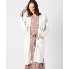 (MEW'S REFINED CLOTHES/ミューズ リファインド クローズ)定番ニットロングカーディガン/レディース シロ