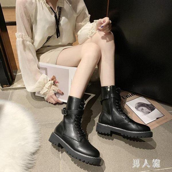 配裙子穿的靴子馬丁靴英倫風2019秋季新款靴子百搭潮短靴