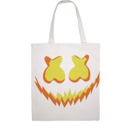 Pumpkin Marshmello トートバッグ totebag キャンバス キャンパストートバッグ キャンバス エコバッグ ショッピングバッグ軽量 収納シンプル 肩掛け無地 環境保護 男女兼用 両面パターン
