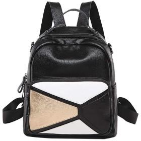 女の子の女性のためのBAACD小さなバックパックブラックレザーファッション軽量ショルダーバッグ防水旅行変更バックパックギフトキャンパスユース