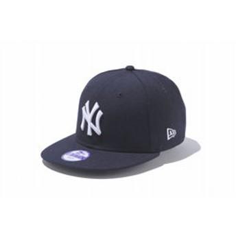 【Super Sports XEBIO & mall店:帽子】Kid's 9FIFTY ニューヨーク・ヤンキース ネイビー×ホワイト 11308483