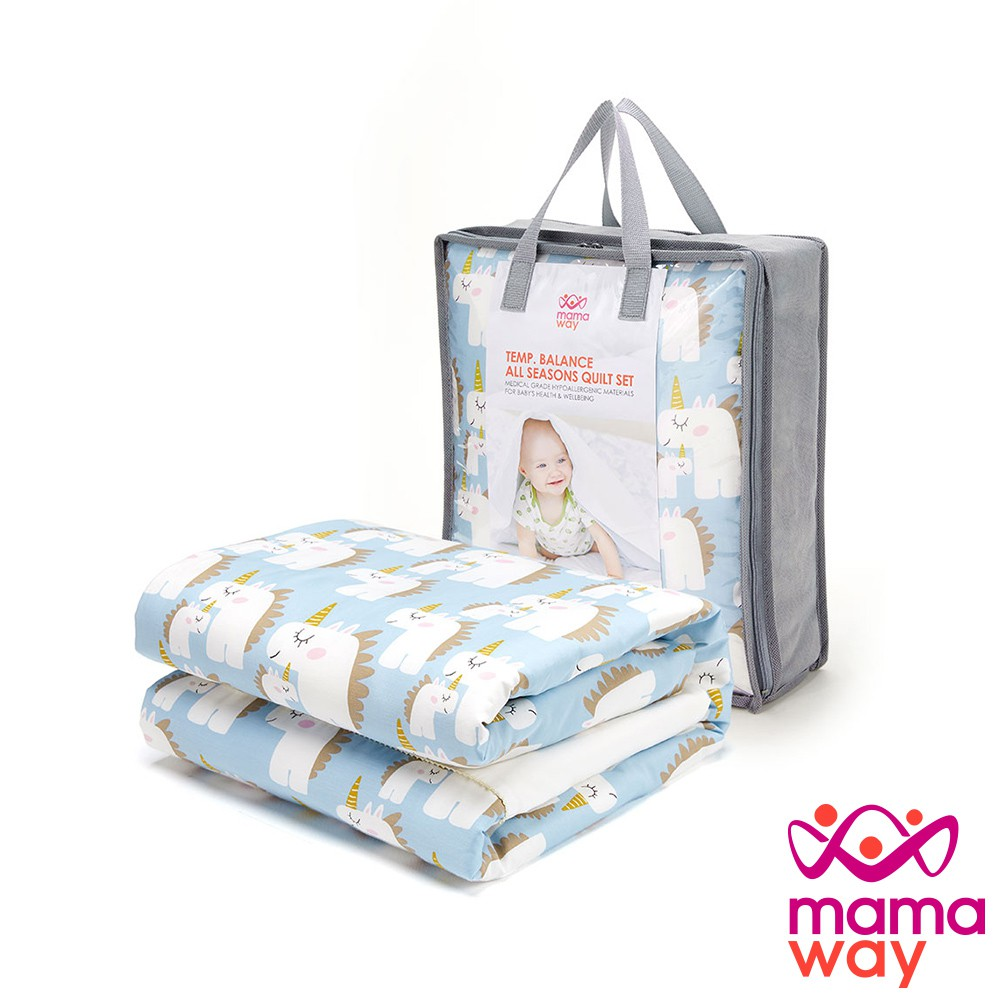 【mamaway 媽媽餵】獨角獸寶寶安撫被組-調溫/抗菌(共2色)