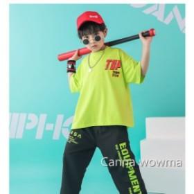 新品hiphop 女の子 ヒップホップ セットアップ 版 ミドリフ長袖Tシャツ 子供 ジャズ演出用