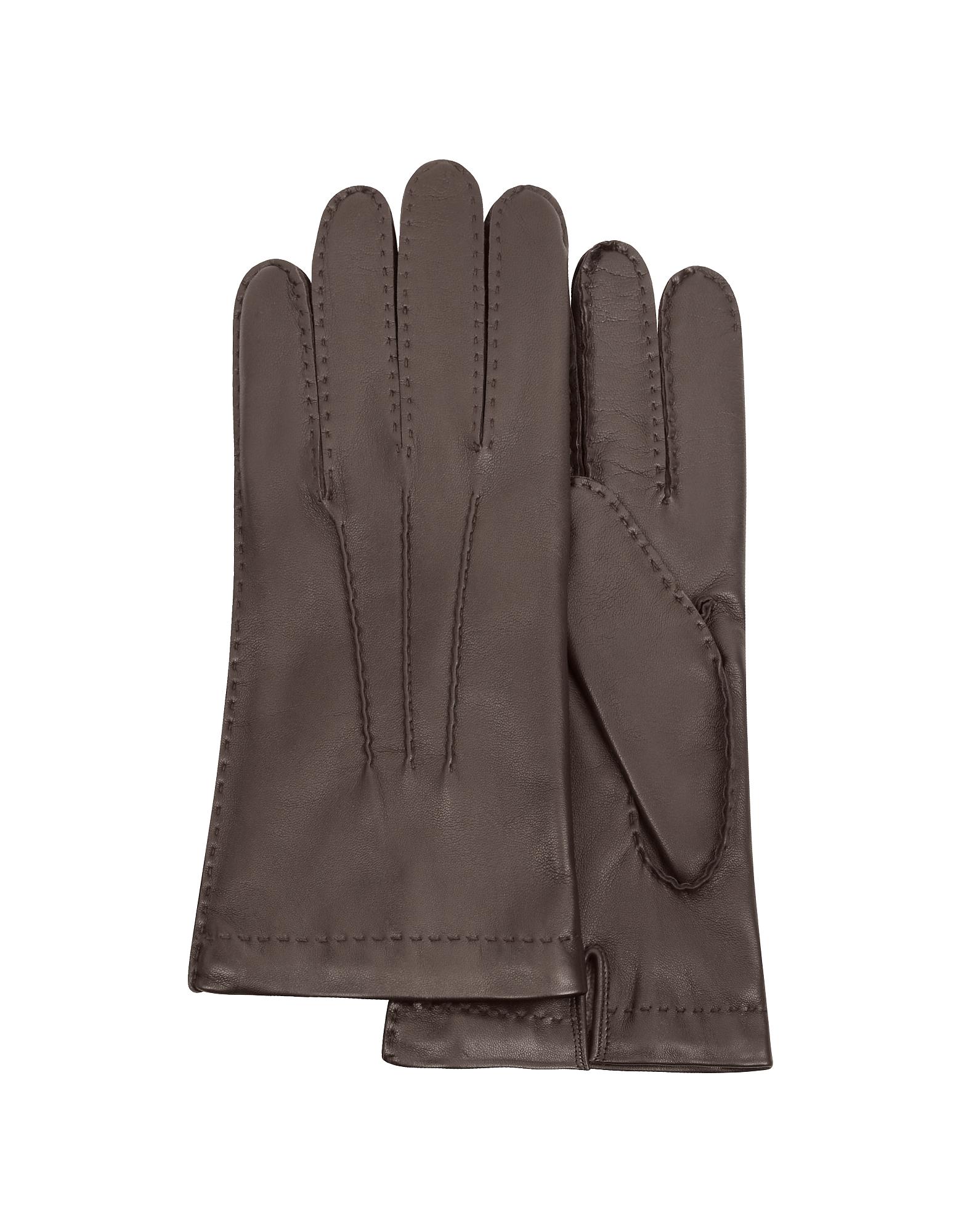Forzieri 福喜利 男士手套, 深棕色羊绒真皮男士手套