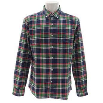 【Super Sports XEBIO & mall店:トップス】ボタンダウン ネルシャツ 871PA9CG8766NVXGY オンライン価格