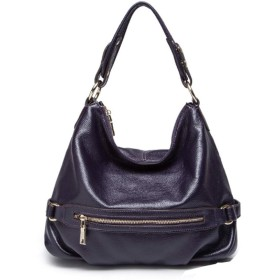 フルレザーハンドバッグ-ソフトカウハイドバッグ、シングルショルダーマルチレイヤーカウハイドレザーハンドバッグ、シンプルなファッションハンドバッグスリングショルダーバッグハンドバッグワイルドハンドバッグ