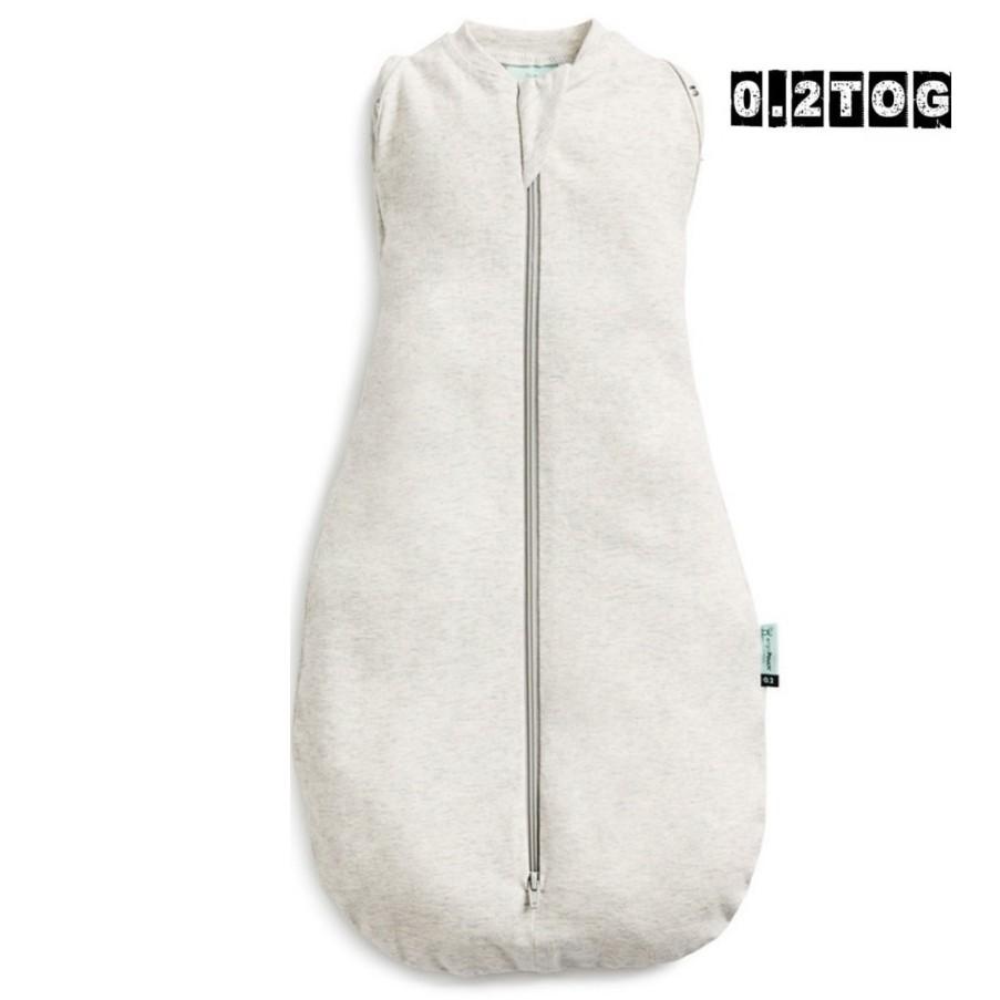 澳洲 ergoCocoon 二合一舒眠包巾 0.2TOG -亞麻灰