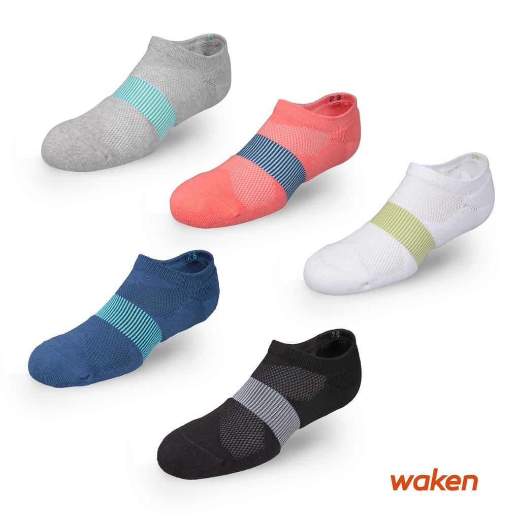 【waken】精梳棉萊卡X型網眼排汗運動襪 1雙入 襪子 男襪 女襪 船型襪