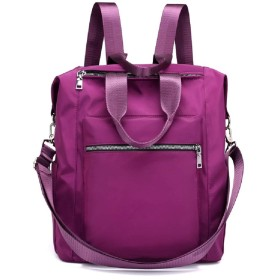 リュック レディース 大容量A4リュックサック 大人 ナイロン マザーズバッグ 軽量 撥水 (紫)