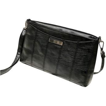 女性のハンドバッグ封筒サッチェルショルダーバッグPUレザーメッセンジャーメッセンジャークロスボディバッグ電話ドロップ船#T、ブラック