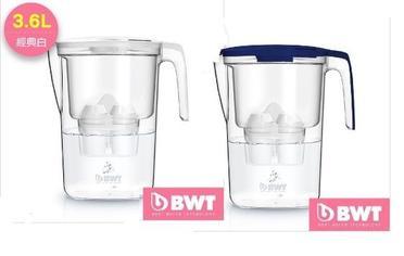 BWT 德國倍世 Mg2+ 鎂離子 健康濾水壺 Slim 3.6L 藍/白
