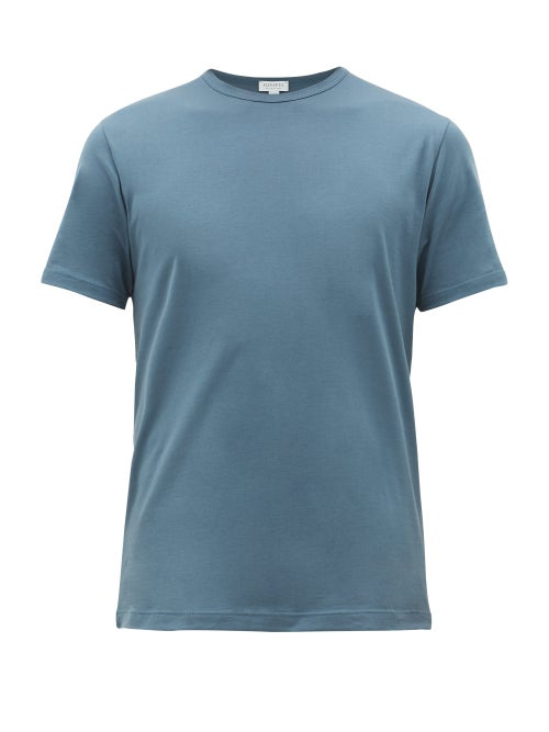 Sunspel - Pima-cotton T-shirt - Mens - Blue