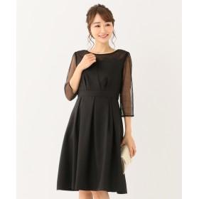 any SiS(エニィスィス)/【洗える】ビスチェ風ドットチュール ドレス