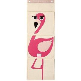 【淘氣寶寶】加拿大 3 Sprouts 壁掛式收納袋-火鶴鳥【大容量口袋,收納便利】【保證公司貨】