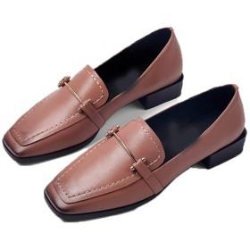 [シュウアン] スクエアトゥ ローヒール ピンク パンプス 痛くない 太ヒール ブラック 脱げない 黒 ベージュ 歩きやすい 2.7cmヒール チャンキーヒール 通勤 シューズ 22.5cm 履きやすい シンプル オフィス レディース 走れる 美脚 疲れない 結婚式 立ち仕事 靴