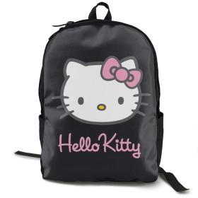黒キティ リュックサック 大容量 多機能 通勤 通学 旅行 出張 人気 おしゃれラップトップ バックパック 男女兼用 16.5インチ