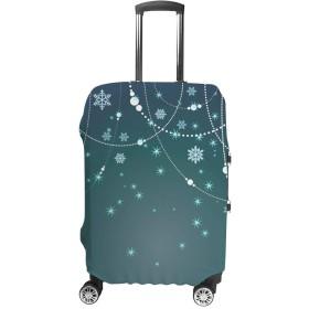 スーツケースカバー トラベルケース 荷物カバー 弾性素材 傷を防ぐ ほこりや汚れを防ぐ 個性 出張 男性と女性 冬の背景