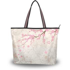 トートバッグ ハンドバッグ 手提げ a4 大容量 レディース 桜 花柄 肩掛けバッグ 学生 おしゃれ 通勤 通学 かわいい